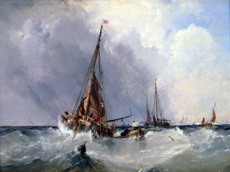 Shipping of the Solent seascape by artist George Chambers for sale